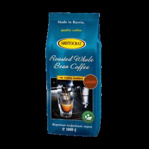 """Кофе в зернах Aristocrat """"Luxury"""" - купаж 60% арабики и 40% робусты,средней обжарки."""