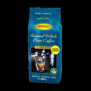 """Кофе в зернах Aristocrat """"Vending Standart"""" 1000 г - купаж Робуста 100% из Вьетнам и Уганды,средней обжарки."""