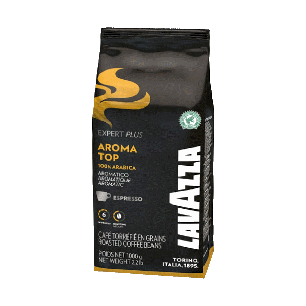 Кофе в зернах LAVAZZA «Aroma Top» - купаж из отборных сортов Арабики, обладает тонкой кислинкой с нотами злаков и стойким послевкусием сухофруктов.