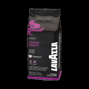 Кофе в зернах LAVAZZA «Gusto Forte»- Крепкий кофе, с ярким, кофейно-шоколадным ароматом и насыщенным вкусом с горчинкой, изгототовленный из 100% Робусты.