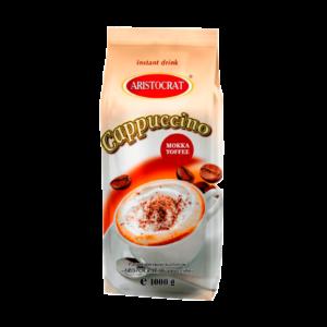 """Капучино Aristocrat """"MOKKA TOFFEE"""" – высококачественный растворимый российский продукт с насыщенным вкусом ириски и сливок для кофейных автоматов."""