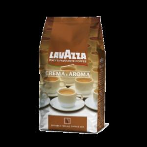 Кофе Lavazza «Crema e Aroma» - купаж из отборных сортов сладкой 80% Арабики из центральной и южной Америки, 20% Африканской Робусты для вендинга и дома
